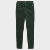 Paul Smith Women's Skinny-Fit Dark Green Corduroy Trousers