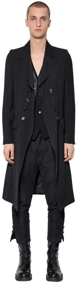 Ann Demeulemeester Double Breasted Wool Blend Coat