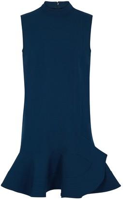 Victoria Victoria Beckham Victoria, Victoria Beckham Petrol Blue Flared Dress
