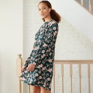 Knox Rose™ Women's Floral Print Long Sleeve Babydoll Dress - Knox RoseTM