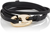 Miansai WOMEN'S BRUMMEL HOOK ON LEATHER WRAP BRACELET