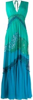 Alberta Ferretti lace panelled maxi dress