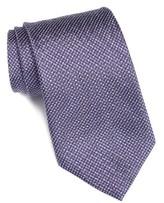 John Varvatos Men's Check Silk Blend Tie