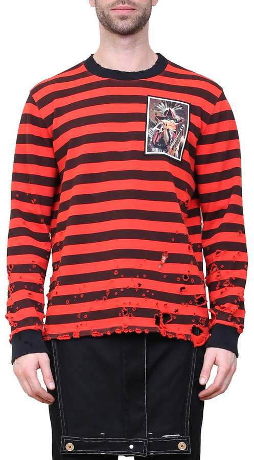 Givenchy Destroyed Cotton Sweatshirt