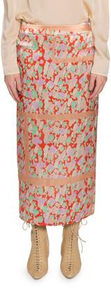 REJINA PYO Mina Ruched-Back Polka Dot Midi Skirt