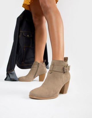 Qupid Mid Ankle Boots