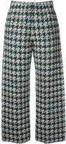 Coohem houndstooth pattern trousers