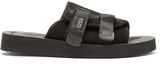Suicoke Kaw-vs Suede And Leather Sandals - Black