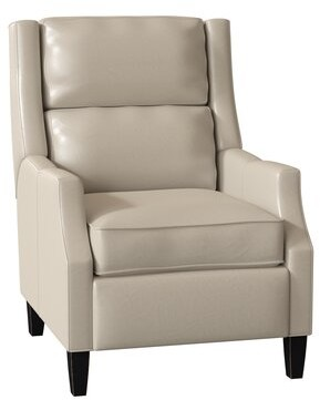Bradington-Young Thomas Genuine Leather Power Recliner Body Fabric: Outsider Cloud, Leg Color: Espresso, Cushion Fill: Spring Down, Reclining Type: Po