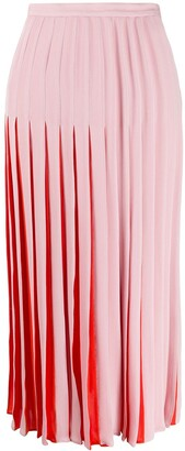 Valentino Two-Toned Pleated Skirt