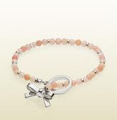 Gucci Bow Charm Beads Bracelet