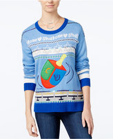 Hooked Up by IOT Juniors' Dreidel Holiday Sweater