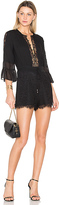 Rachel Zoe Rita Romper in Black. - size 6 (also in )