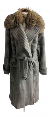 Gucci Grey Fur Coats