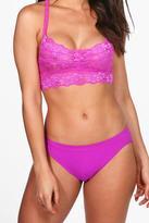boohoo Heidi Basic Brazilian Brief purple