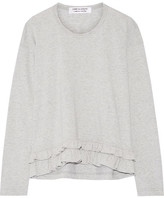 Comme des Garcons Ruffle-trimmed Cotton-jersey Top - Gray
