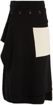 Joseph Panelled wool midi skirt