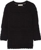 Etoile Isabel Marant Simon Paneled Cotton Sweater Sweater