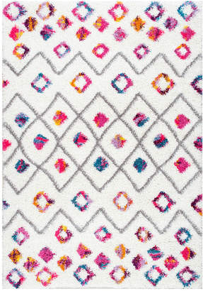 nuLoom Tatyana Moroccan Diamond Trellis Shaggy Machine-Made Polypropylene Rug