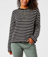 Carve Designs Women's Pullover Sweaters Black - Black Birch Stripe Whitcomb Wool-Blend Sweater - Women
