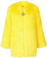 Givenchy fox fur collarless jacket - women - Silk/Cotton/Fox Fur/Acetate - 36