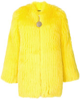 Givenchy fox fur collarless jacket - women - Silk/Cotton/Fox Fur/Acetate - 38