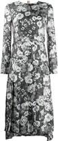 Thom Browne floral print long dress