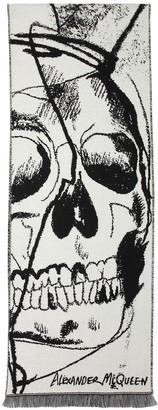 Alexander McQueen Skull Jacquard Wool Scarf