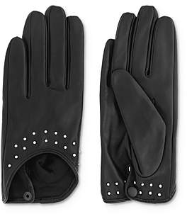 The Kooples Studded Leather Moto Gloves
