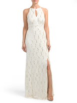 Juniors Lace Gown