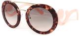 Prada Pink & Gradient Gray Baroque Round Sunglasses
