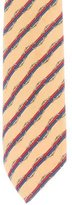 Hermes Chain-Link Striped Silk Tie