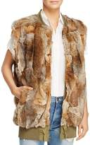 Adrienne Landau Reversible Bomber Rabbit Fur Vest - 100% Exclusive