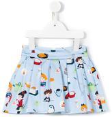 Simonetta cooks print skirt