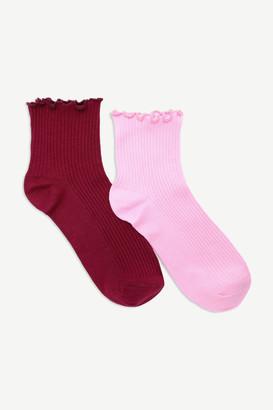 Ardene Ruffled Ankle Socks