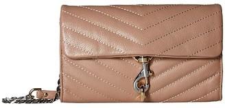 Rebecca Minkoff Edie Wallet On Chain (Silver) Handbags