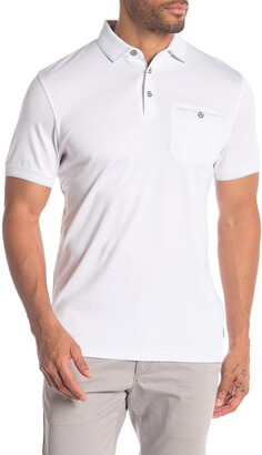 Ted Baker Solid Short Sleeve Flat Knit Polo
