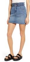 Only Millie Paperbag Waist Denim Miniskirt