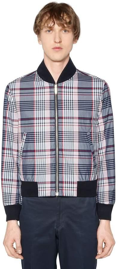 Thom Browne Reversible Zip-Up Cotton Poplin Jacket