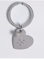 M&S Collection Live Laugh Love Keyring
