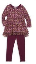 Splendid Toddler's & Little Girl's Two-Piece Tiered Top & Leggings Set