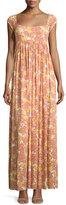 Rachel Pally Isa Cap-Sleeve Printed Long Dress