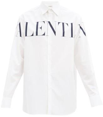 Valentino Oversized Logo-print Cotton Shirt - White