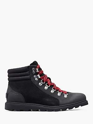 Sorel Ainsley Lace Up Ankle Snow Boots, Black