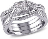 MODERN BRIDE 1/3 CT. T.W. Diamond Sterling Silver Bridal Set