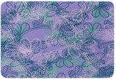 "KESS InHouse JS3003CBM02 Bath Mat Patternmuse ""Jaipur Juniper"" Blue Lavender Memory Foam Bath Mat, 24"" X 36"""