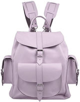 Grafea Lavender Medium Leather Rucksack Lilac
