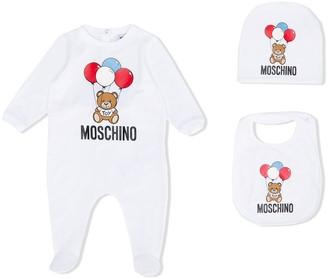 MOSCHINO BAMBINO Teddybear Balloon Print Pyjamas