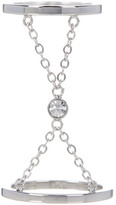Rebecca Minkoff Crystal Double Ring - Size 7
