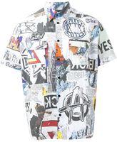 Kokon To Zai 'Newspaper' print shirt